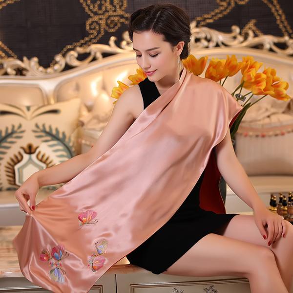【刺绣围巾】 定制苏绣围巾