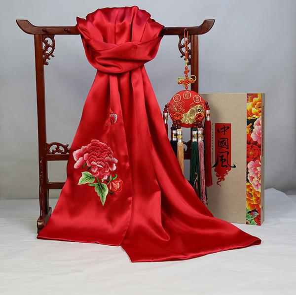 【刺绣围巾 】苏绣围巾定制