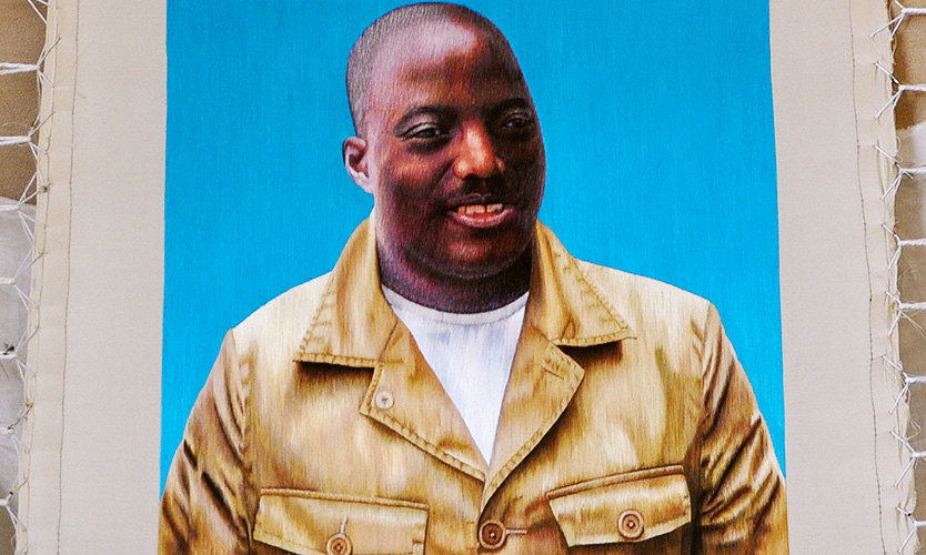 苏绣国礼案例-刚果金总统约瑟夫·卡比拉