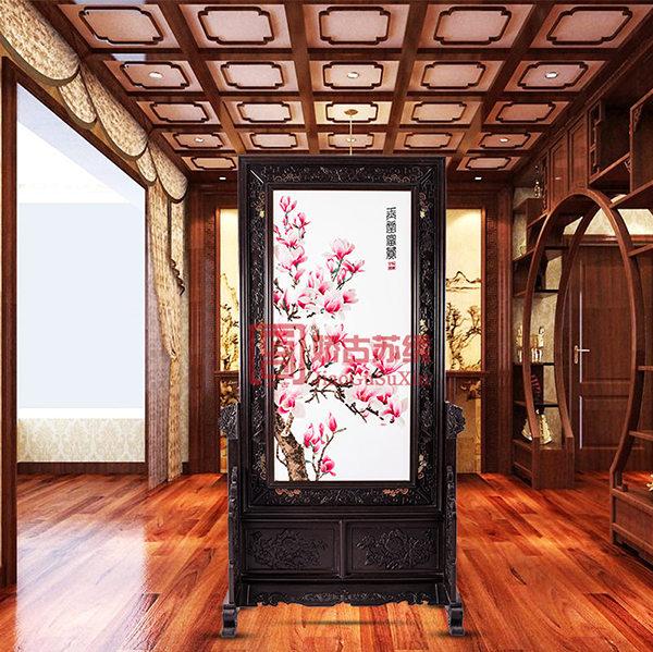 玉堂富贵特色苏绣屏风|居家装饰隔断|时尚创意隔断定制