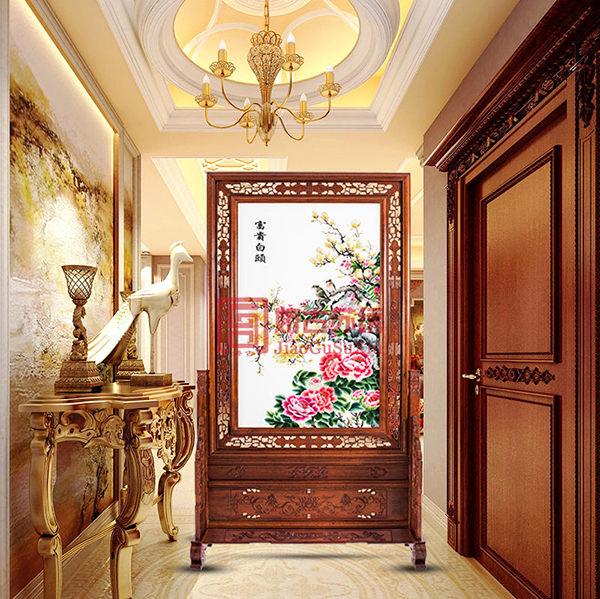 苏州刺绣玄关隔断 企业贵宾接待室玄关 特色手工艺品