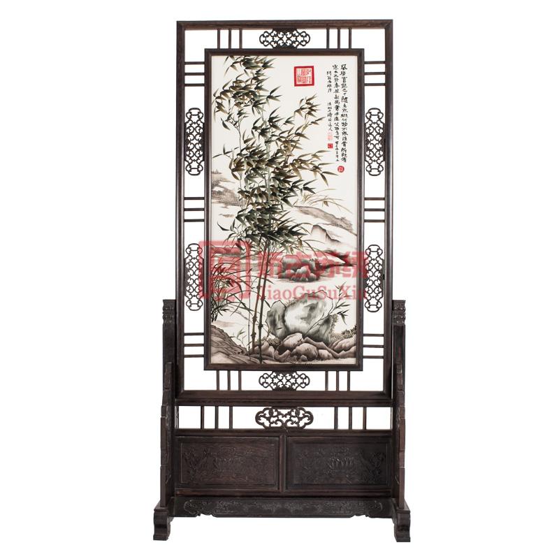 苏州特色手工艺品|双面绣屏风|手工刺绣竹子|厂家直销
