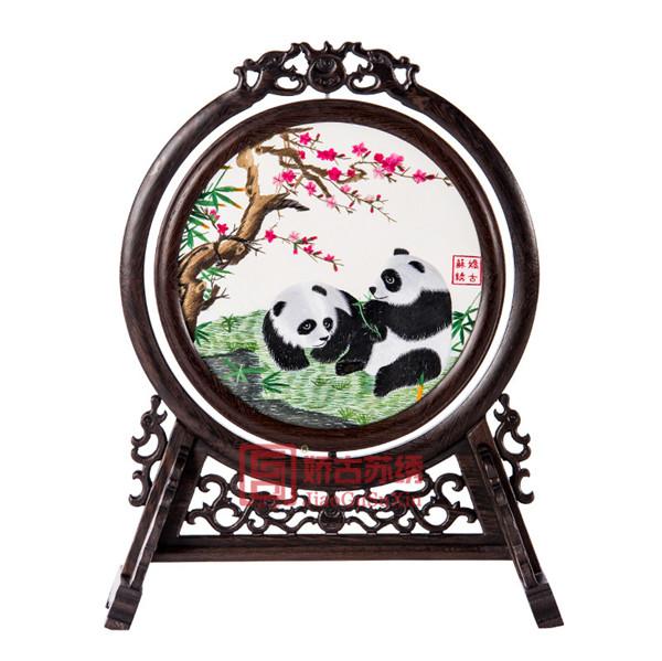 苏绣双面绣摆件|送外宾商务外事礼品|中国特色手工艺品