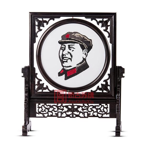 江苏特产|传统中式苏绣台屏|出国留学送外宾礼品
