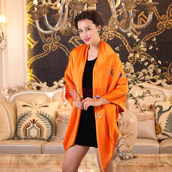 苏绣披肩大方巾|桑蚕丝重磅面料丝绸礼物|苏州特产