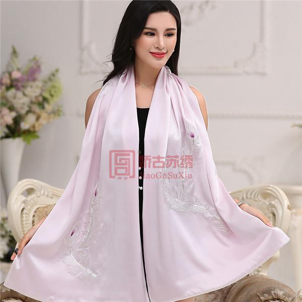 手工绣传统时尚元素披肩|中式民间手工艺披肩|中国特色礼品送外宾