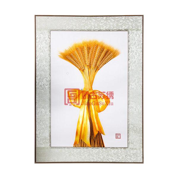 麦穗手绣画|苏州刺绣特色装饰画|易携带出国中国礼物