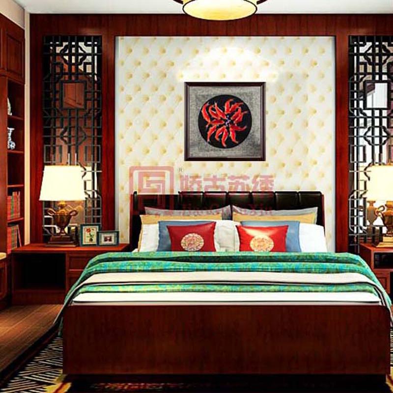 十二红鱼苏绣玄关画|居家装饰吉祥画|中式卧室画