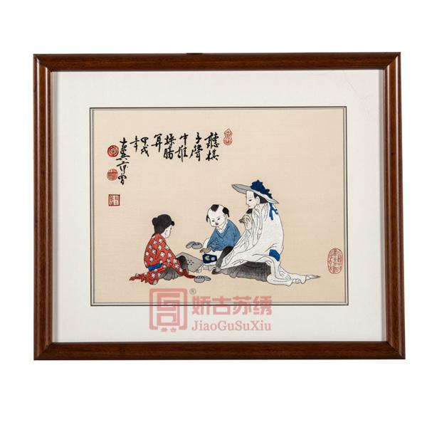 苏绣名家字画|范曾名作刺绣画|餐厅卧室装饰壁画