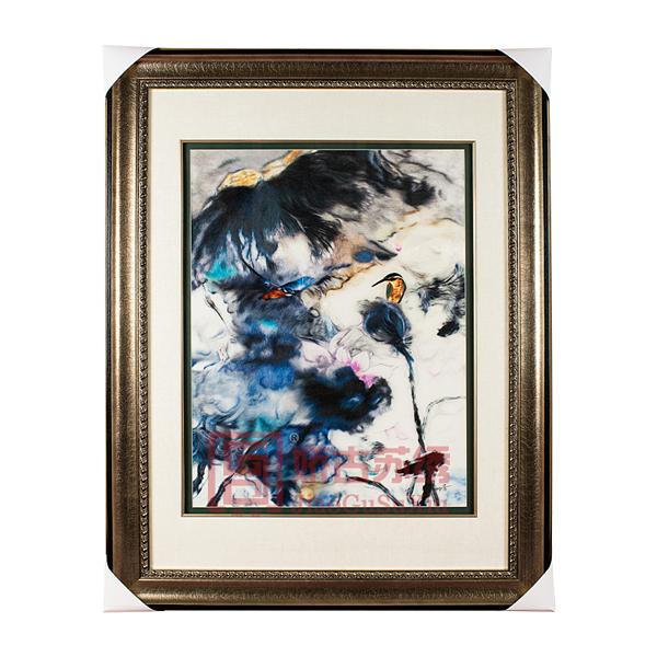 精品苏绣装饰画|【黄月】花鸟油画刺绣客厅餐厅书房挂画|名人字画收藏