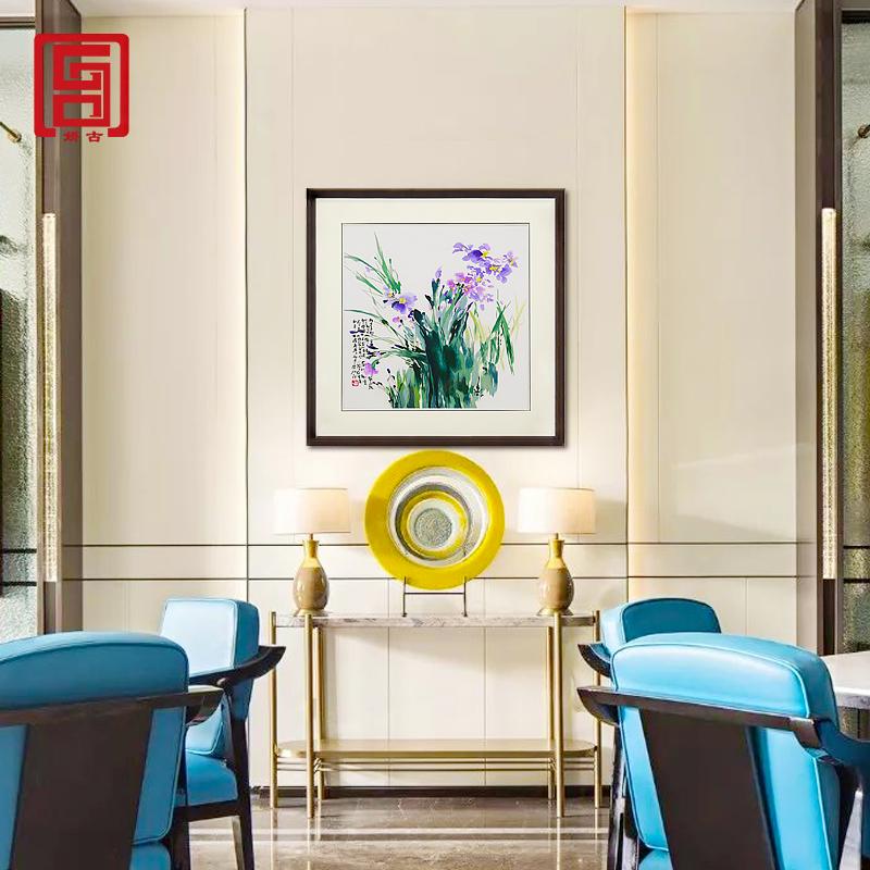 娇古「兰花」苏州单面绣装饰画客厅餐厅书房装饰刺绣壁画手工刺绣