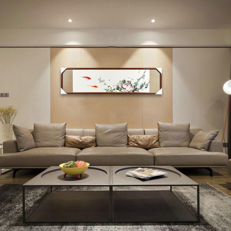 娇古苏绣成品挂画纯手工刺绣新中式客厅沙发背景墙装饰画