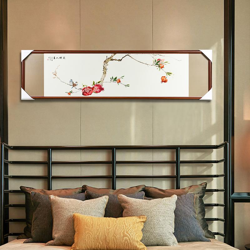 娇古苏绣新中式客厅沙发背景墙成品挂画纯手工刺绣装饰画真丝绣线