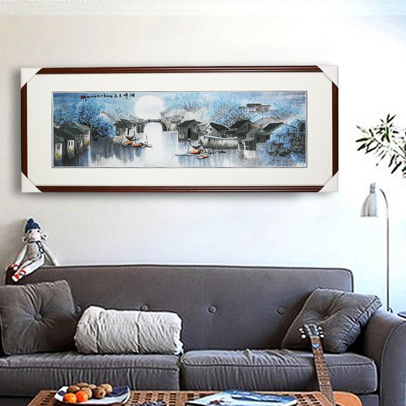 娇古苏绣装饰画成品客厅卧室玄关装饰挂画抽象艺术刺绣画苏绣挂画