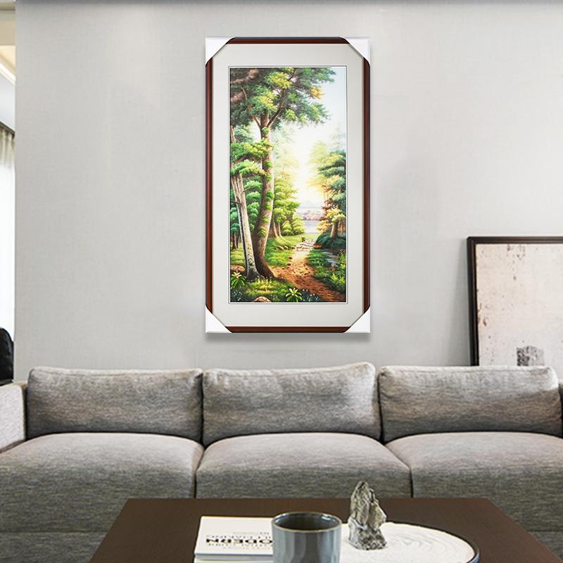 苏绣成品挂画娇古苏绣装饰画手工刺绣客厅墙壁装饰画现代中式风景