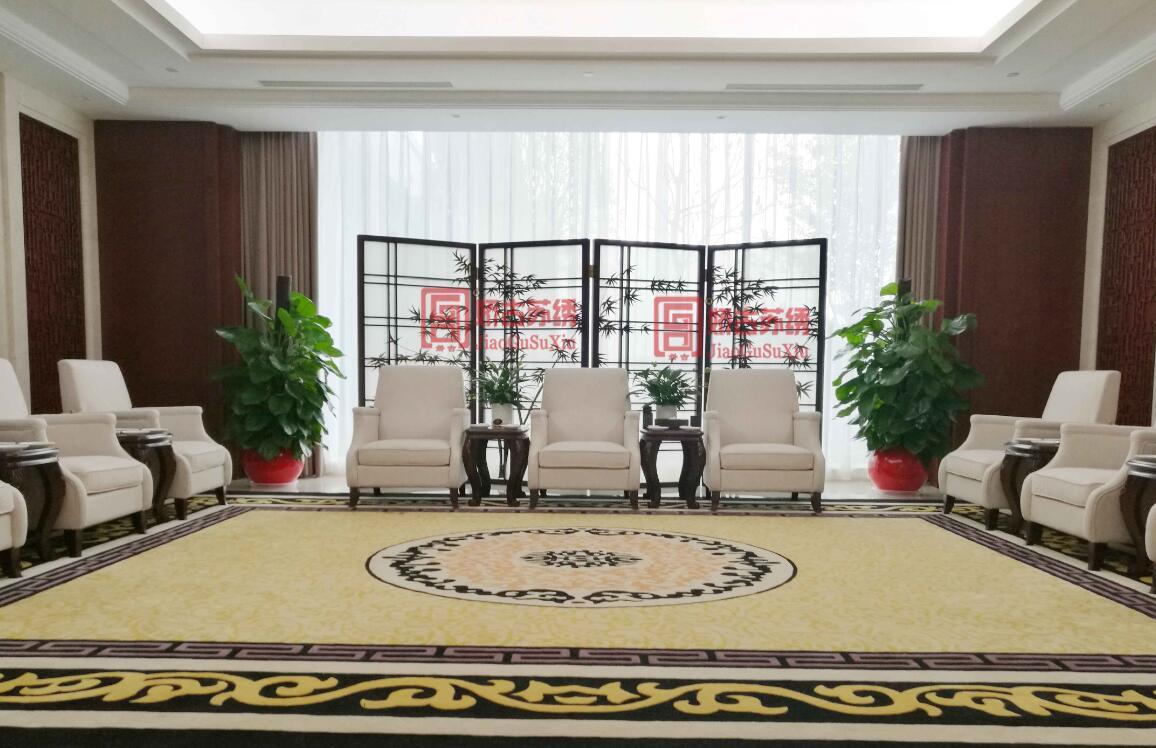 民生银行贵宾室定制双面绣屏风--苏绣收折手工刺绣隔断高端定做