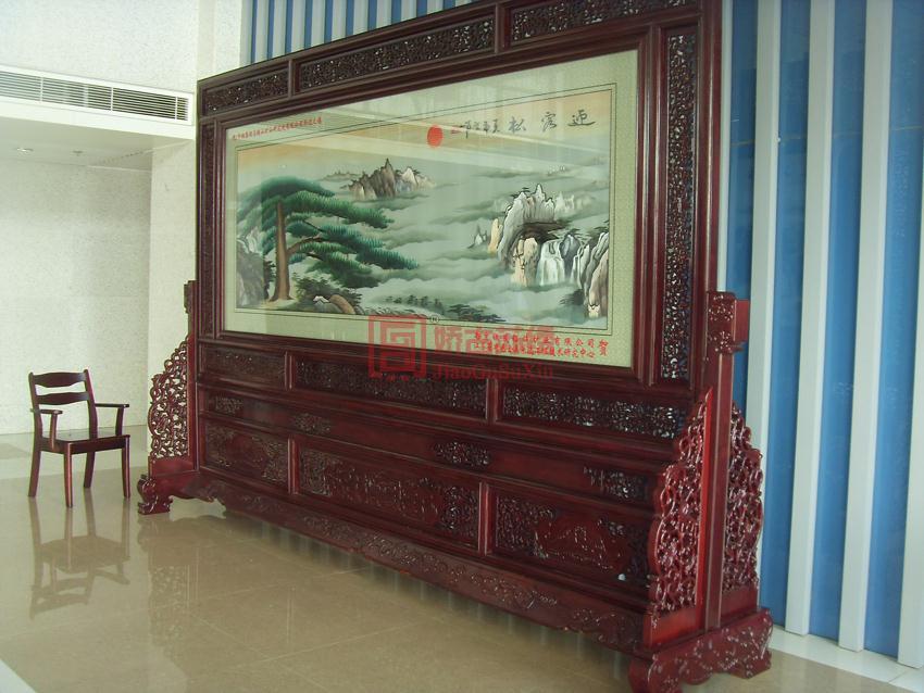 马鞍山中钢集团大厅苏绣屏风--南京银茂铅锌矿业公司赠