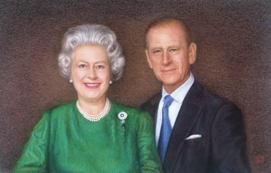 苏绣国礼案例-赠英国女王苏绣肖像